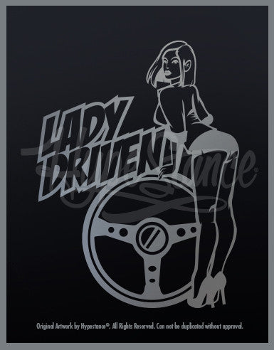 Lady Driven Graphic Sticker - Hypestance, Car sticker
