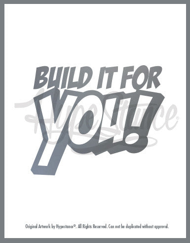 Build it for you Sticker - Hypestance, Car sticker