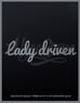 Lady Driven Script Sticker - Hypestance, Car sticker