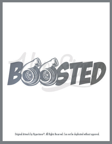 Boosted Twin Turbo Sticker