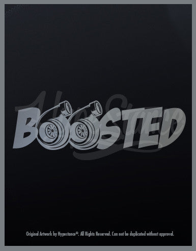 Boosted Twin Turbo Sticker - Hypestance, Car sticker