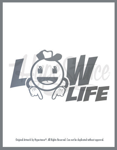Low Life Emoji Sticker - Hypestance, Car sticker