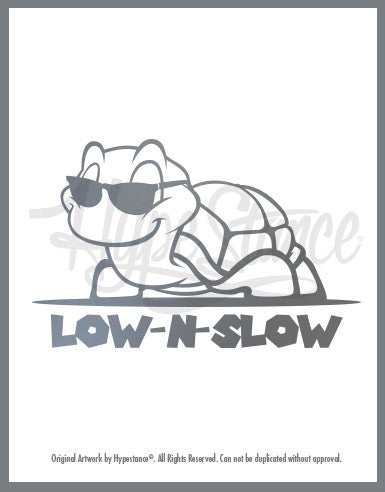 Low N Slow Turtle Sticker - Hypestance, Car sticker