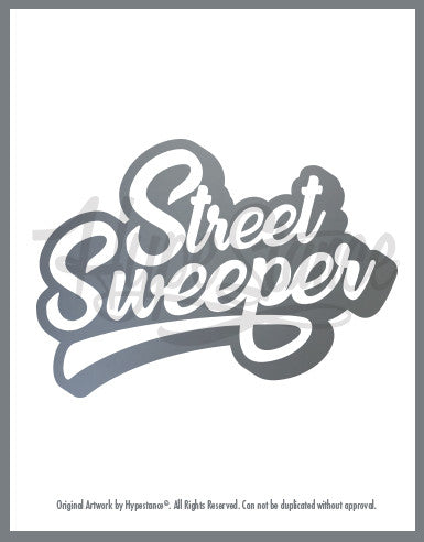 Street Sweeper Sticker - Hypestance, Car sticker
