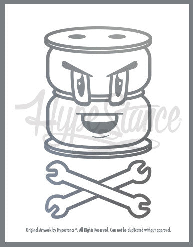 Funny AirBag Character Sticker - Hypestance, Car sticker