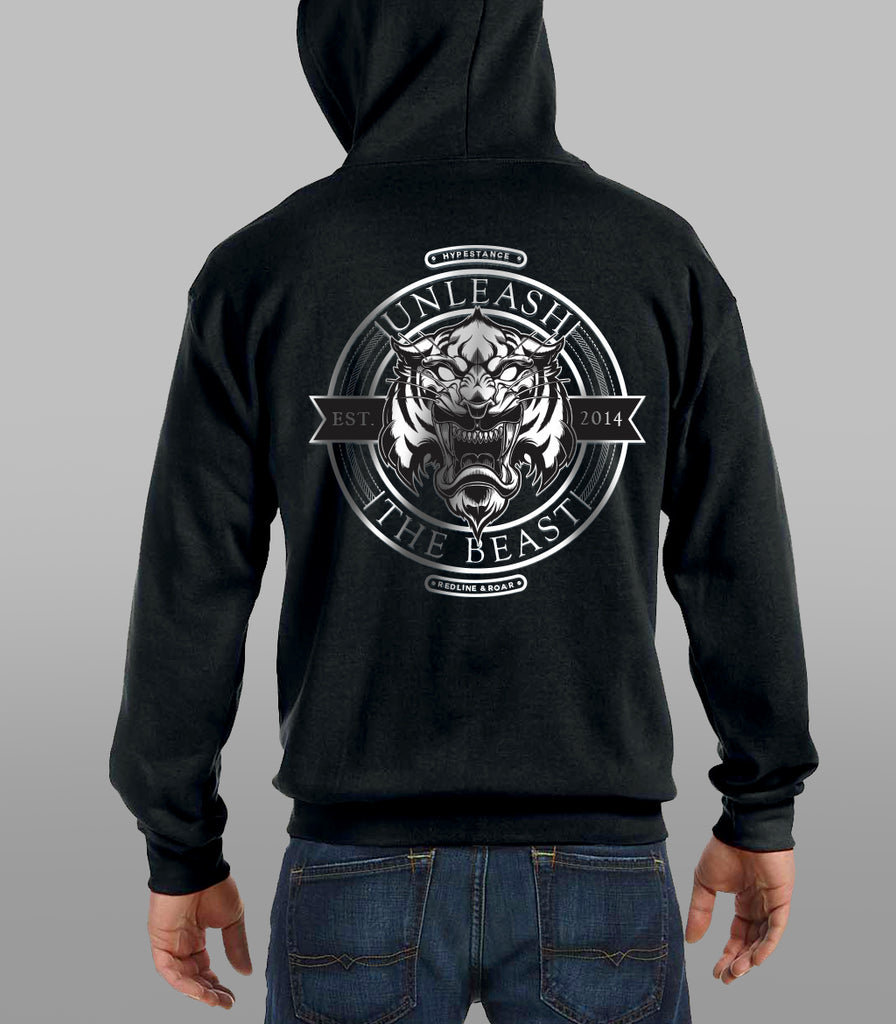"""Unleash The Beast"" Full Zip Hoodie / Sweatshirt (Limited Edition) - Hypestance, Hoodie/Sweatshirt"