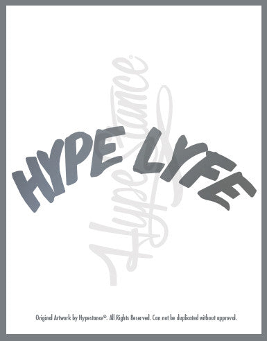 Hype Lyfe Sticker - Hypestance, Car sticker