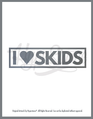 I love Skids Vinyl Sticker - Hypestance, Car sticker
