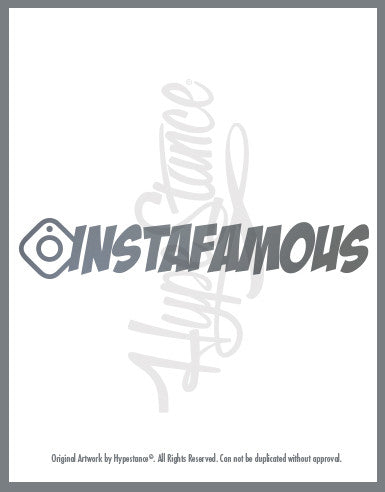 Instafamous Sticker - Hypestance, Car sticker
