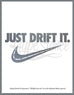 "Just Drift ""Nike Check"" Vinyl Sticker - Hypestance, Car sticker"