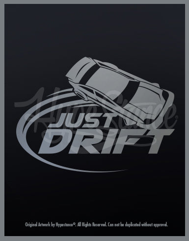 Just Drift Vinyl Sticker - Hypestance, Car sticker