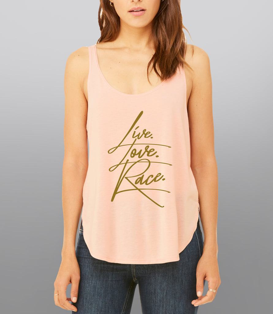 SOLD- Out Live Love Race Flowy Tank Top - Hypestance, Tank