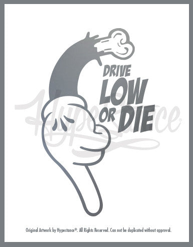Low Life Sticker - Hypestance, Car sticker