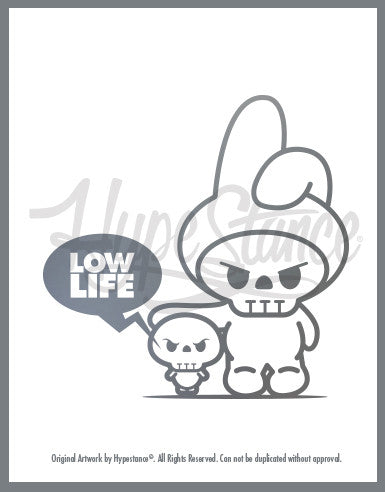 Funny Low Life Character Sticker - Hypestance, Car sticker