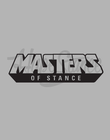 Limited Edition- Masters of Stance Sticker Pack (7 Stickers) - Hypestance, Car sticker