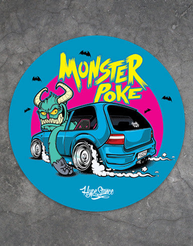 Monster Poke Vinyl Car Sticker - Hypestance, Car sticker