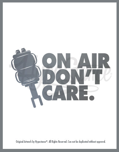 On Air Don't Car Vinyl Sticker - Hypestance, Car sticker