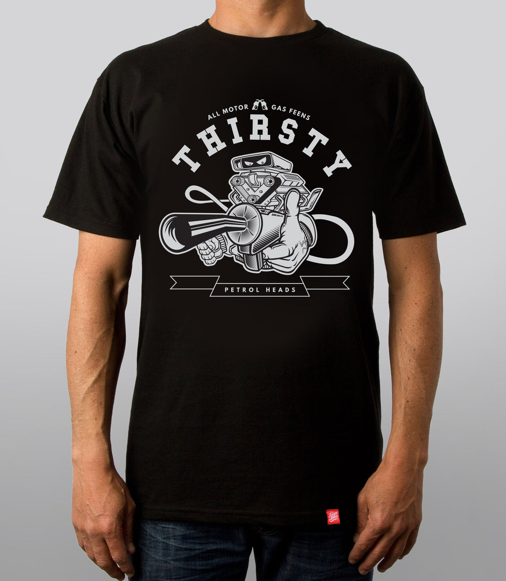 Thirsty All Motor Graphic Tee - Hypestance, Car Tshirts