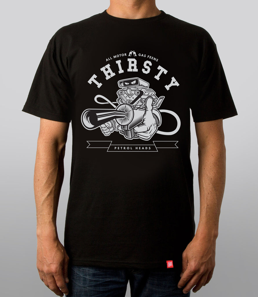 SALE - Thirsty All Motor Graphic Tee - Hypestance, Car Tshirts