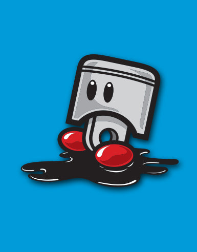 "Slipping Piston ""Super Spool Bros"" Automotive Die Cut Sticker - Hypestance, Car sticker"
