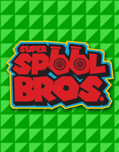 """Super Spool Bros."" Logo Automotive Car Die Cut Sticker - Hypestance, Car sticker"