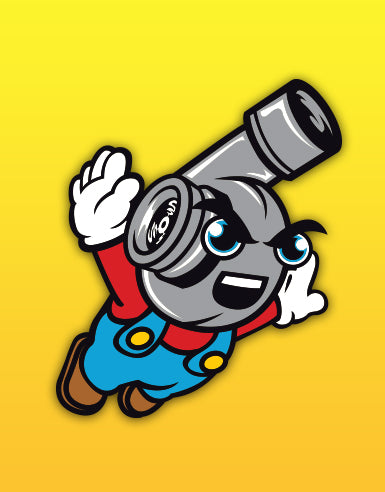 "Flying Boost Hero ""Super Spool Bros."" Automotive Die Cut Sticker - Hypestance, Car sticker"