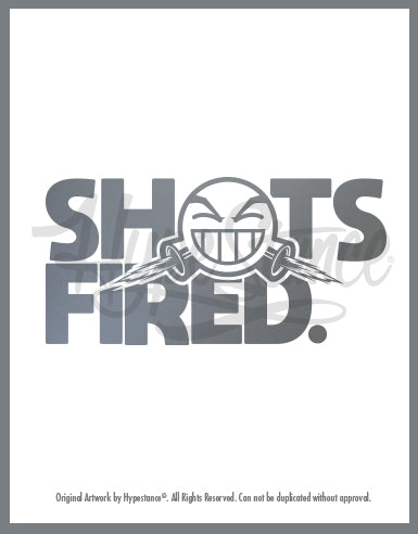 Shots Fired Emoji Vinyl Sticker - Hypestance, Car sticker