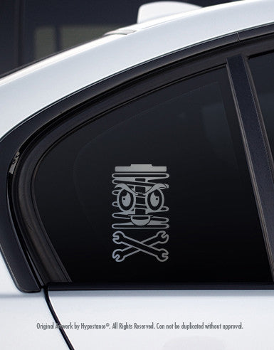 Funny Spring Man Character Sticker - Hypestance, Car sticker