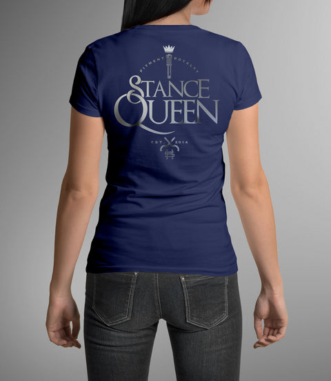 Stance Queen Glitter Crown V neck Graphic Tee - Hypestance, V neck