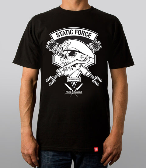 Static Force Skull Graphic Tee - Hypestance, Car Tshirts