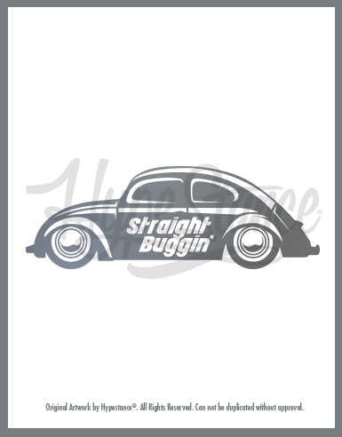 Straight Buggin Sticker - Hypestance, Car sticker