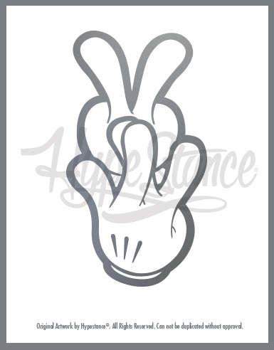 VW fingers Sticker - Hypestance, Car sticker