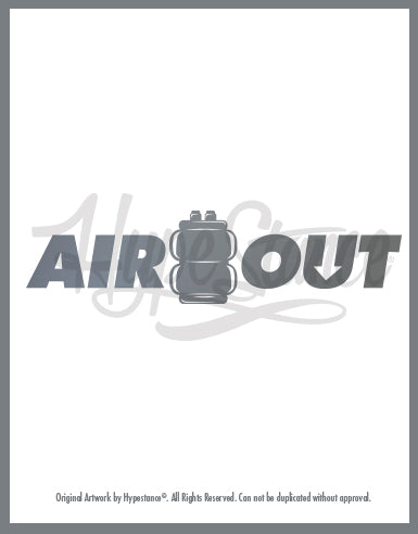 Air Out Vinyl Sticker - Hypestance, Car sticker