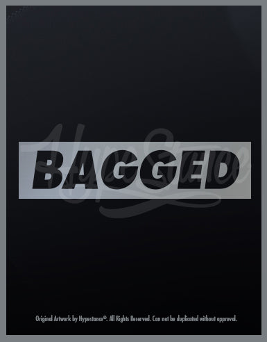 Bagged Vinyl Sticker - Hypestance, Car sticker