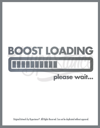 Boost Loading Sticker - Hypestance, Car sticker