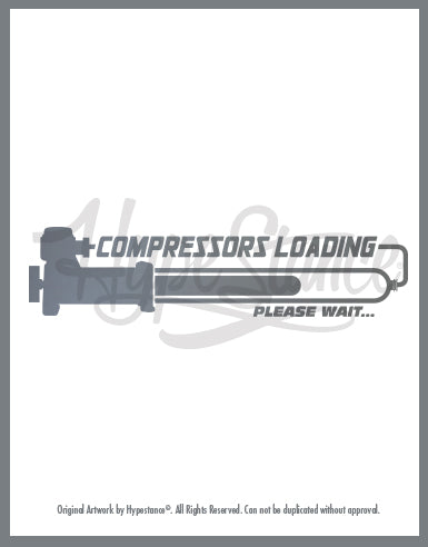 Compressor Loading Vinyl Sticker - Hypestance, Car sticker