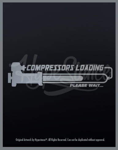 Compressor Loading Vinyl Sticker - Hypestance