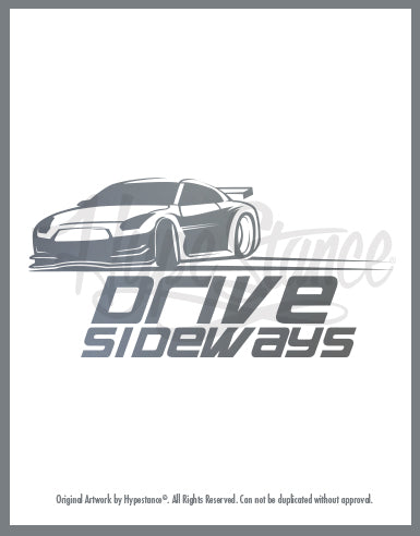 drive sideways Sticker - Hypestance, Car sticker