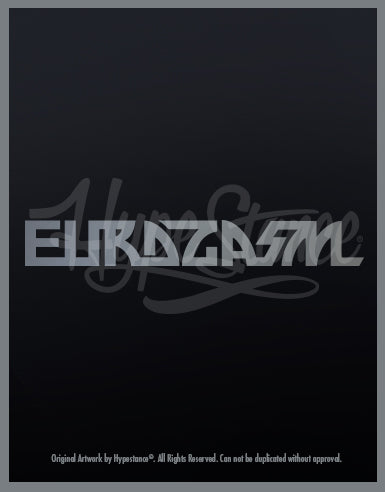 Eurogasm Sticker - Hypestance, Car sticker