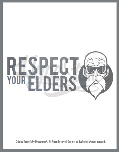 Respect your Elders (Master Yoshi)Sticker - Hypestance, Car sticker