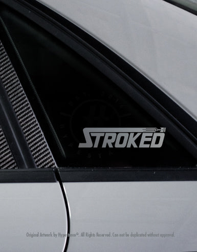 Stroked Sticker - Hypestance, Car sticker