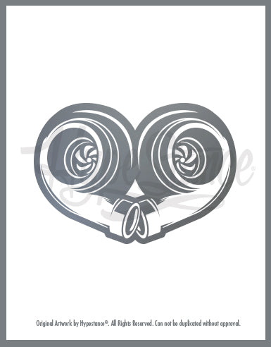 Twin Turbo Heart Sticker - Hypestance, Car sticker