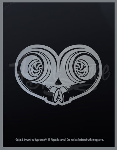 Twin Turbo Heart Sticker - Hypestance