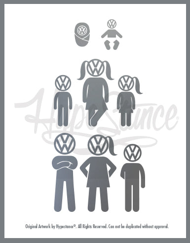 VW fam Sticker - Hypestance, Car sticker