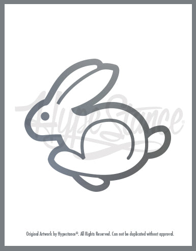 VW Rabbit Sticker - Hypestance, Car sticker