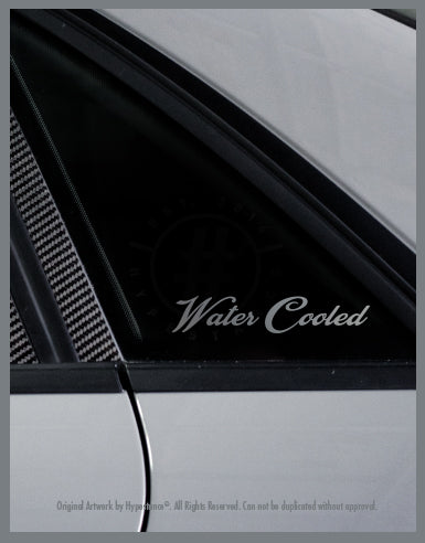 Watercooled Sticker - Hypestance, Car sticker