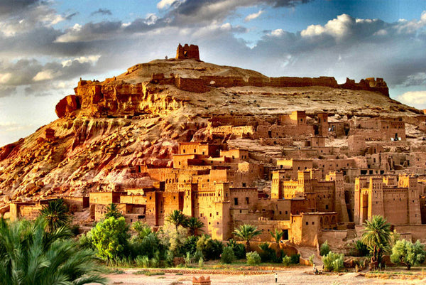 Aït Benhaddou, a village commonly used as location for filming
