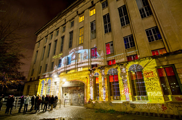 People making a line to enter Berghain, a club in Berlin, Germany.