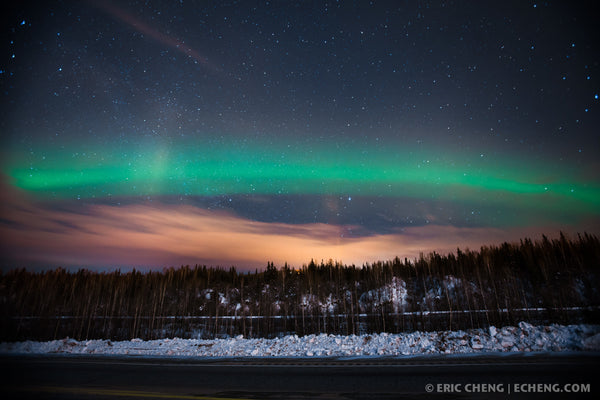 Beautiful northern lights in Fairbanks, Alaska.