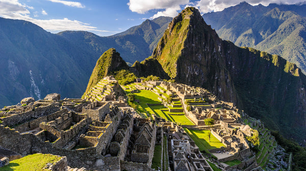 A view of Machu Picchu on the Peruvian Andes.